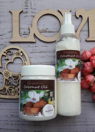 Рафинированное кокосовое масло для волос и тела organic, 250 мл