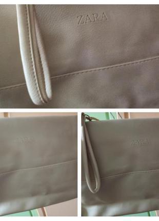 Вместительный бежевый сумка-клатч