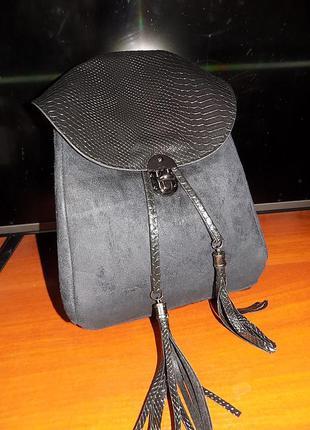 Новый черный рюкзак. распродажа