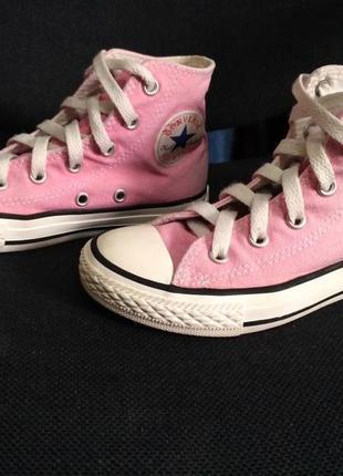Розовые кеды converse 30 размер