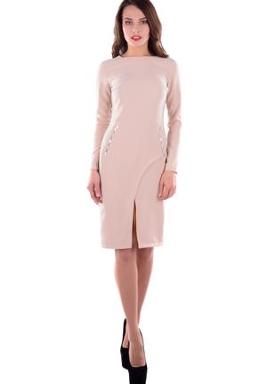 Нарядное платье лате бежевое. распродажа