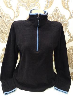 Чёрная флисовая кофта old navy, свитер на короткой молнии