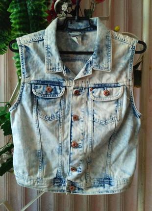 Denim co джинсовая жилетка варенка, размер м