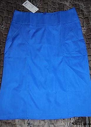 Классическая юбка-карандаш тм van gils ярко-синяя