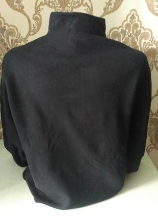 Флисовый свитер, кофта на короткой молнии размер м