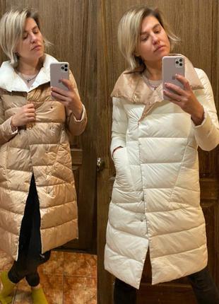 Двухстороннее пальто легкий весенний пуховик куртка