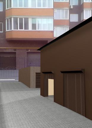 Новые гаражи на Школьной