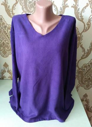 Фиолетовый флисовый джемпер, большой, 66 размер