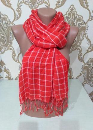 Тонкий шарф, палантин maddison 186×45 см 100% вискоза