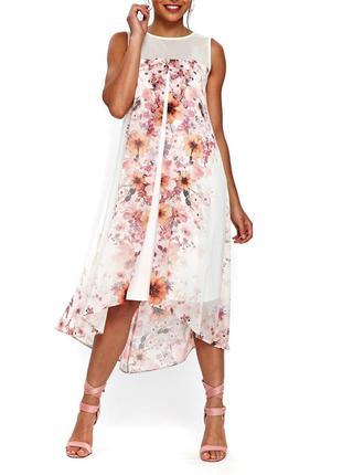 Изумительное👗 😍нежное ,красивое двойное  платье большой размер