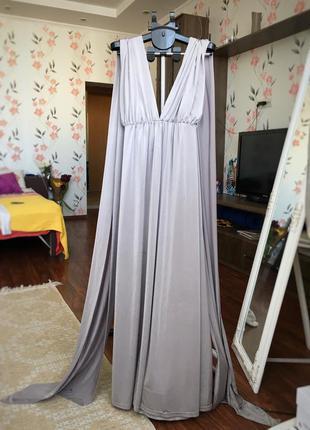 Вечернее/выпускное платье в пол со шлейфом