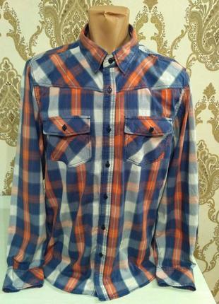 Рубашка в клетку jean pascale