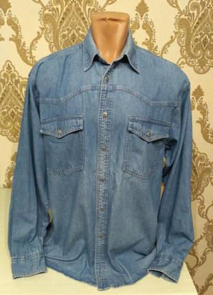 Джинсовая рубашка cavenline