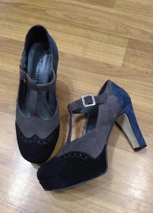 Замшевые туфли tamaris 37 размер
