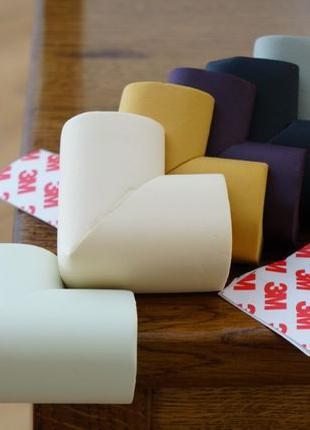 6 шт. Защита на углы мебели уголки накладки мягкие вспененные