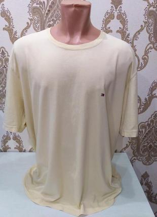 Жёлтая футболка tommy hilfiger размер xxl