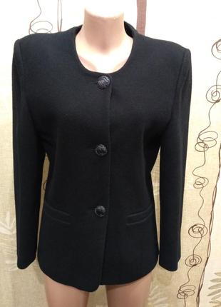 Стильное шерстяное пальто пиджак simone размер 12/40/l