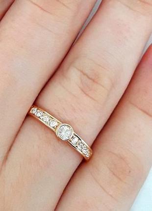 Кольцо позолоченное, колечко позолота