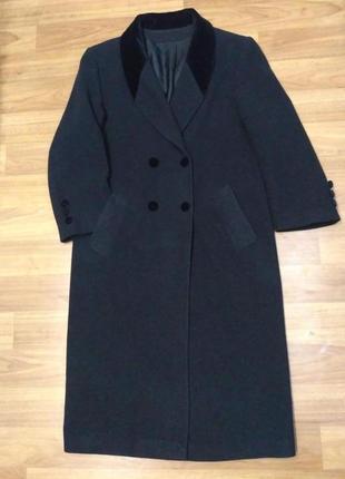 C&a, 80% шерсть. длинное двубортное пальто
