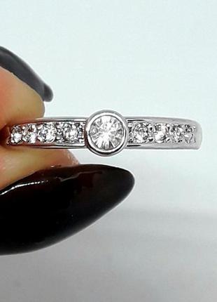 Кольцо серебристое серебро