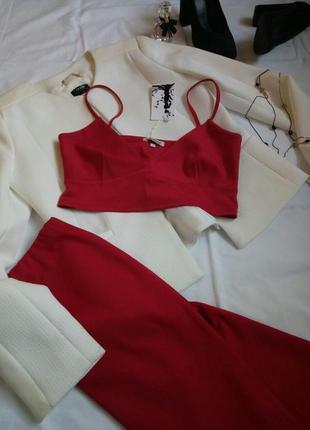 Яркий костюм двойка { топ бралет и юбка карандаш} размеры до x...