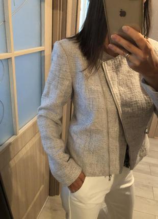 Пиджак твидовый hm в стиле chanel