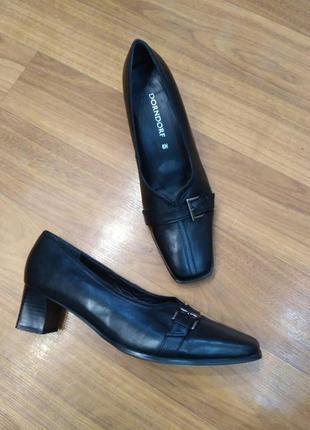 Dorndorf! кожа! удобные туфли на небольшом устойчивом каблуке