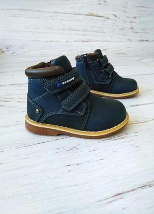 Демисезонные ботинки для мальчиков bessky jt781-2