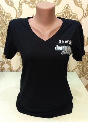 Hakro. состояние новой! чёрная футболка с принтом