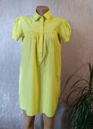 Imperial жёлтое платье - рубашка, тонкий коттон