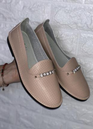 Женские туфли, натур. кожа