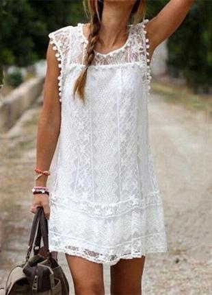 #розвантажуюсь летнее белое кружевное платье