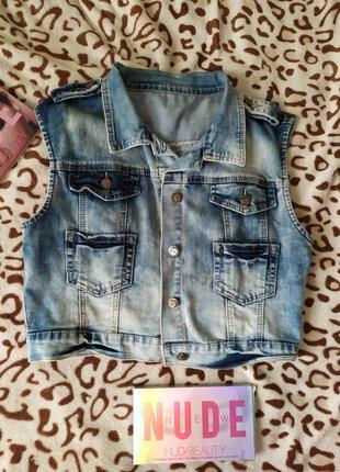 Стильная жилетка джинсовая (10)