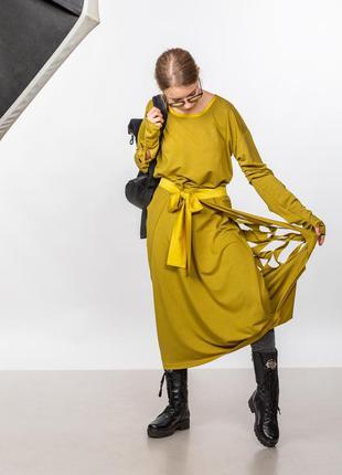 Оригинальное необычное платье из трикотажа