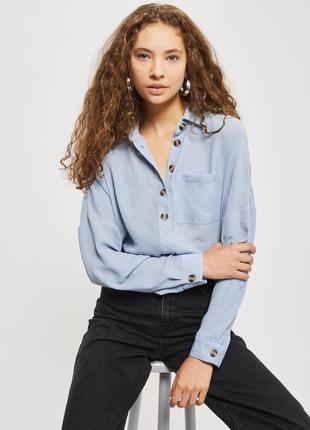 Оверсайз рубашка в стиле casual topshop