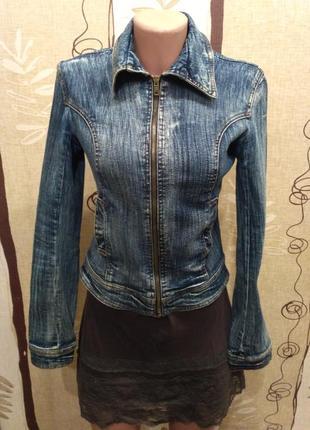 Tally weijl укороченная джинсовая куртка, пиджак на молнии