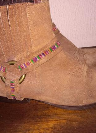 Замшевые ботиночки казачки