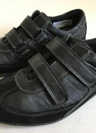 Мега комфортные кожаные кроссовки , туфли ecco 👟 🍂 размер 37 о...