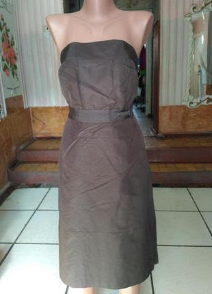 Платье бюстье, натуральный шёлк!