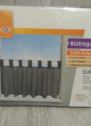 Гардина штора на кухню 50х140 см. драпировка тюль занавеска