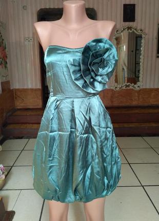 Нарядное платье бюстье с карманами