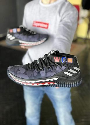 Кроссовки мужские  adidas bape x dame