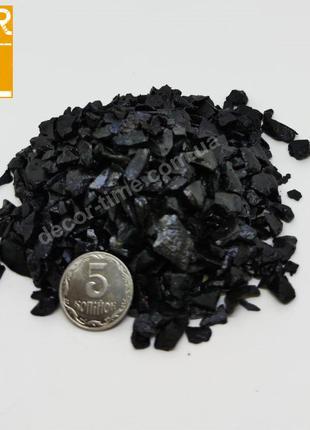 Декоративный цветной щебень , черный (073672)