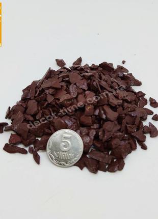 Декоративный цветной щебень, коричневый (10211)