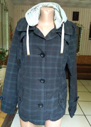 Коттоновый пиджак, ветровка, капюшонка размер xl