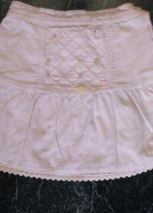 Вельветовая юбочка на рост 77/83 см
