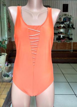 Anita. оранжевый сдельный, слитный купальник с твердой чашечко...