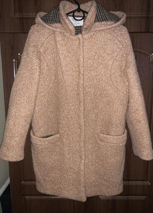 Классное и стильное шерстяное пальто от zara