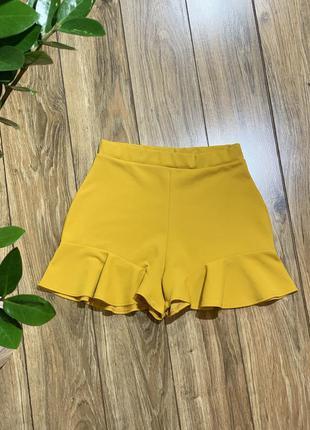 Шорты с имитацией юбки
