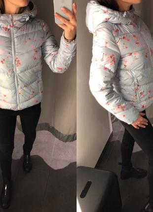 Демисезонная куртка пуффер в цветах курточка amisu есть размеры